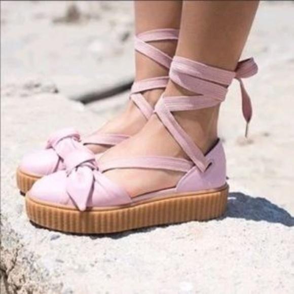 facultativo Olla de crack Hacia  Puma Shoes | Puma Fenty By Rihanna Pink Creeper Sandals 65 | Poshmark